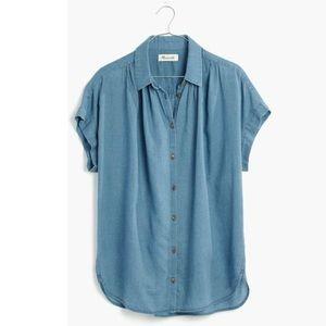 Madewell central shirt in bring indigo L